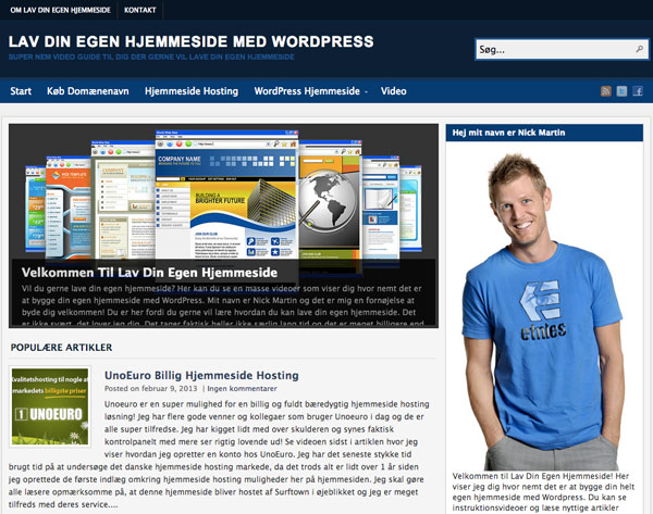 "This is my ""How to build your own website"" website in danish."